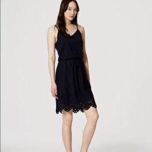 Loft Eyelet Trim Cami Dress